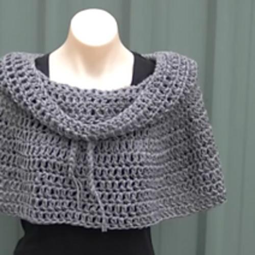 Crochet Me Lovely Cowl Neck Poncho Crochet Tutorial Pattern By