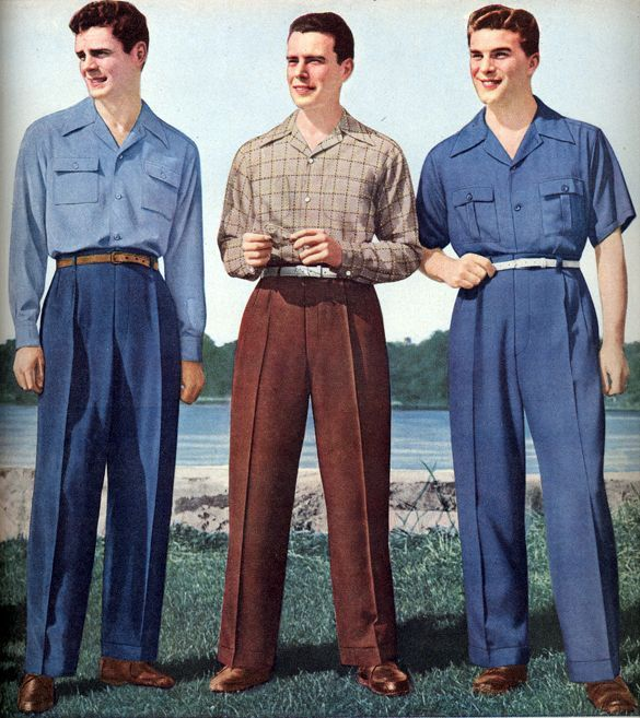 1940s summer clothing for one of the first times in men
