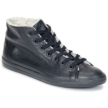 All Star Dainty Shearling Mid Converse- Black trainers