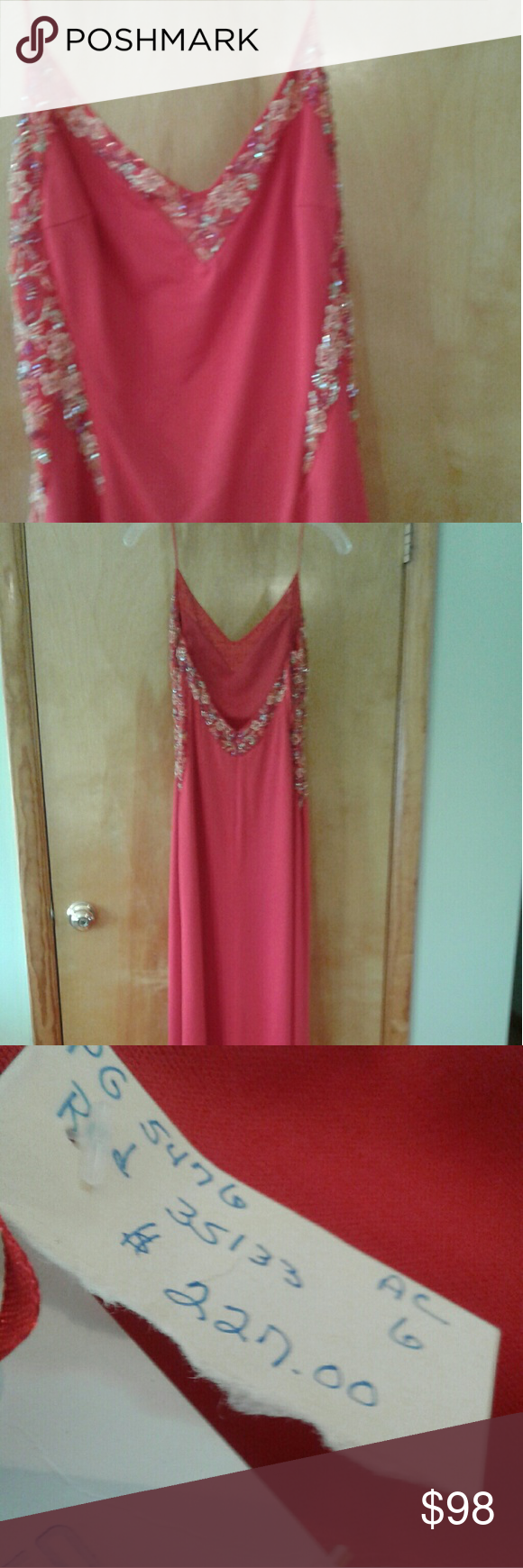Budazzle red w gold sequins long dress nwt pinterest gold