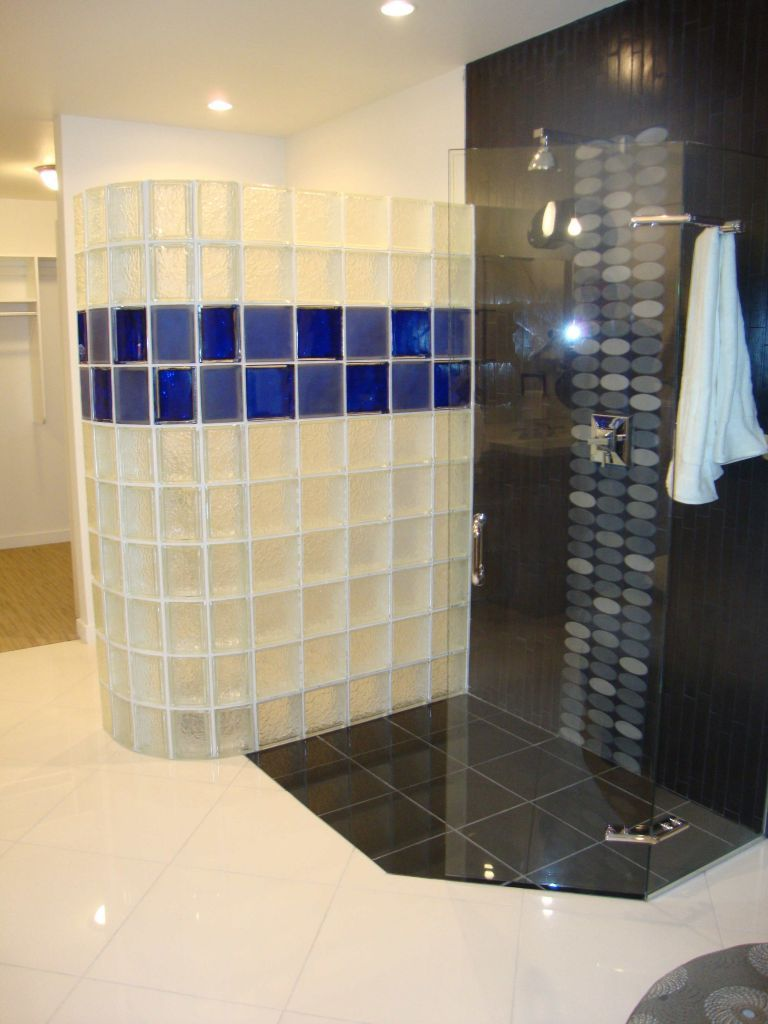 Colored_And_Frosted_Block_F 768×1024  Łazienka  Pinterest Interesting Bathroom Design Columbus Ohio Inspiration Design