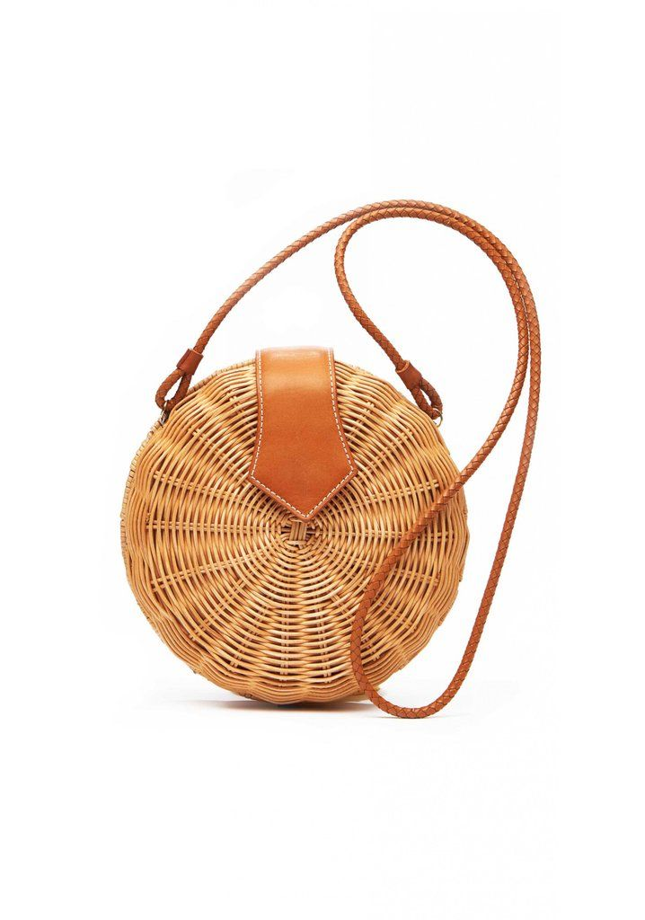 """""""Everyone's obsessed with the Cult Gaia bags and I too want a basket bag. I wore this J.McLaughlin wicker p..."""