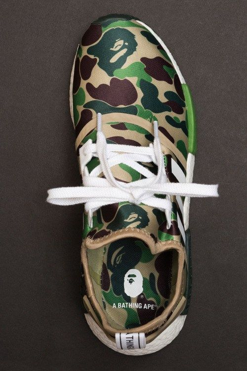 watch 08005 94daa BAPE X adidas Originals NMD R1 A Bathing Ape