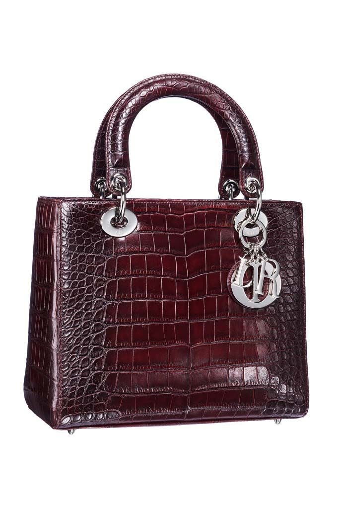 524778958c4b The Lady Dior bag in gradient crocodile.