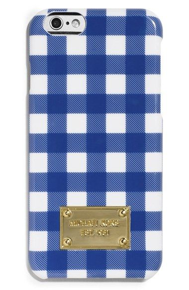 MICHAEL+Michael+Kors+Gingham+Print+iPhone+6+Case+available+at+#Nordstrom