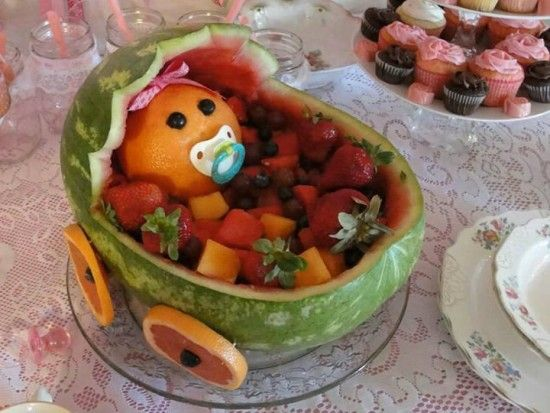 Watermelon baby carriage the whoot shower ideas
