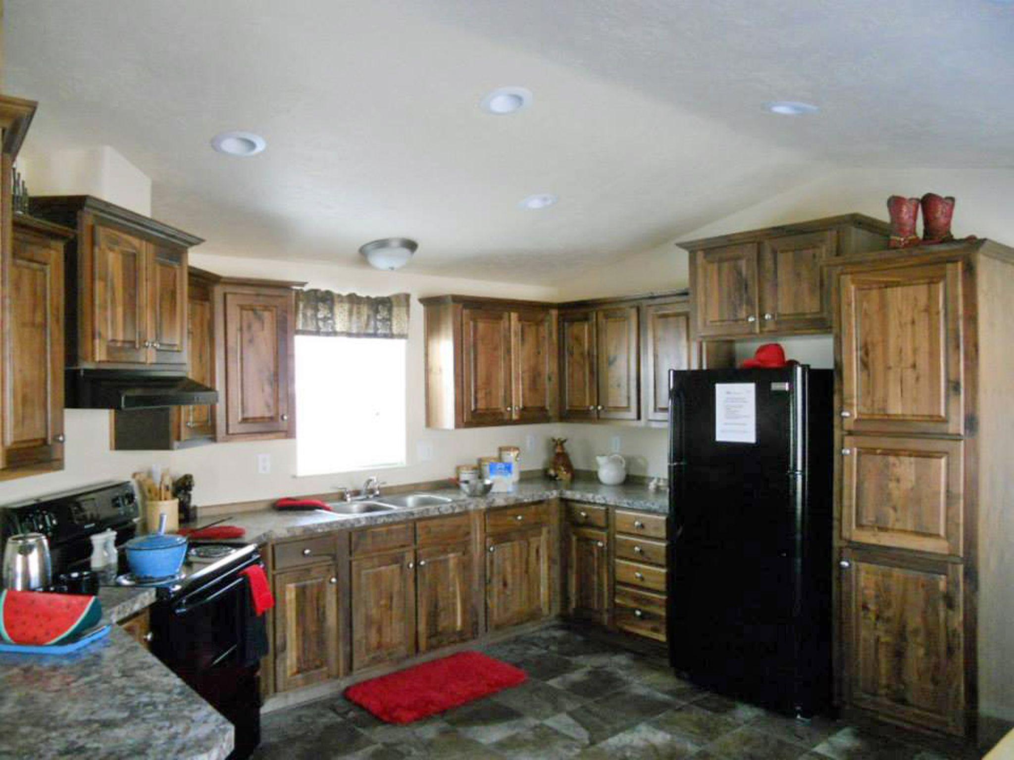 Ranch Hand Walnut Cabinets Kitchen Cabinets Modular Homes