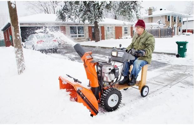 Riding Seat For Snow Blower Angelo Kokkinos Decided He Had Enough