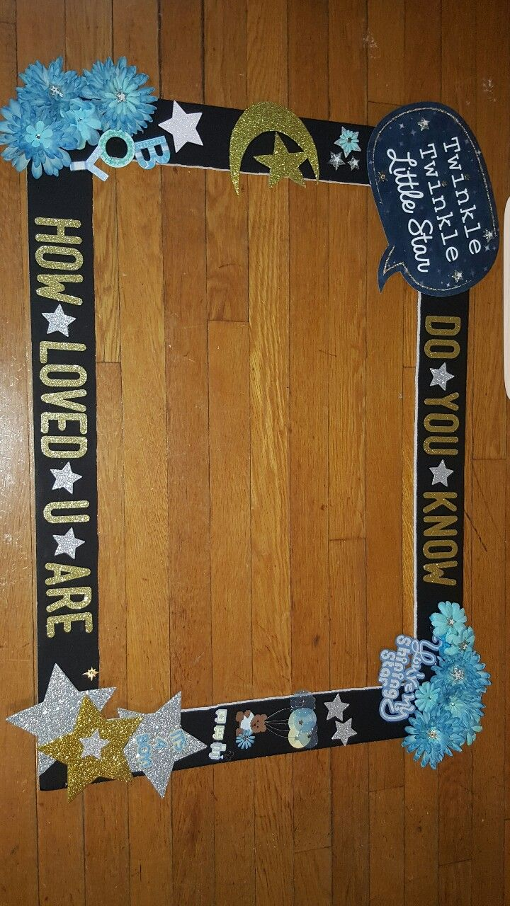 How To Make A Photo Frame Prop For Baby Shower : photo, frame, shower, Twinkle, Little, Photo, Booth, Frame, Shower,, Shower
