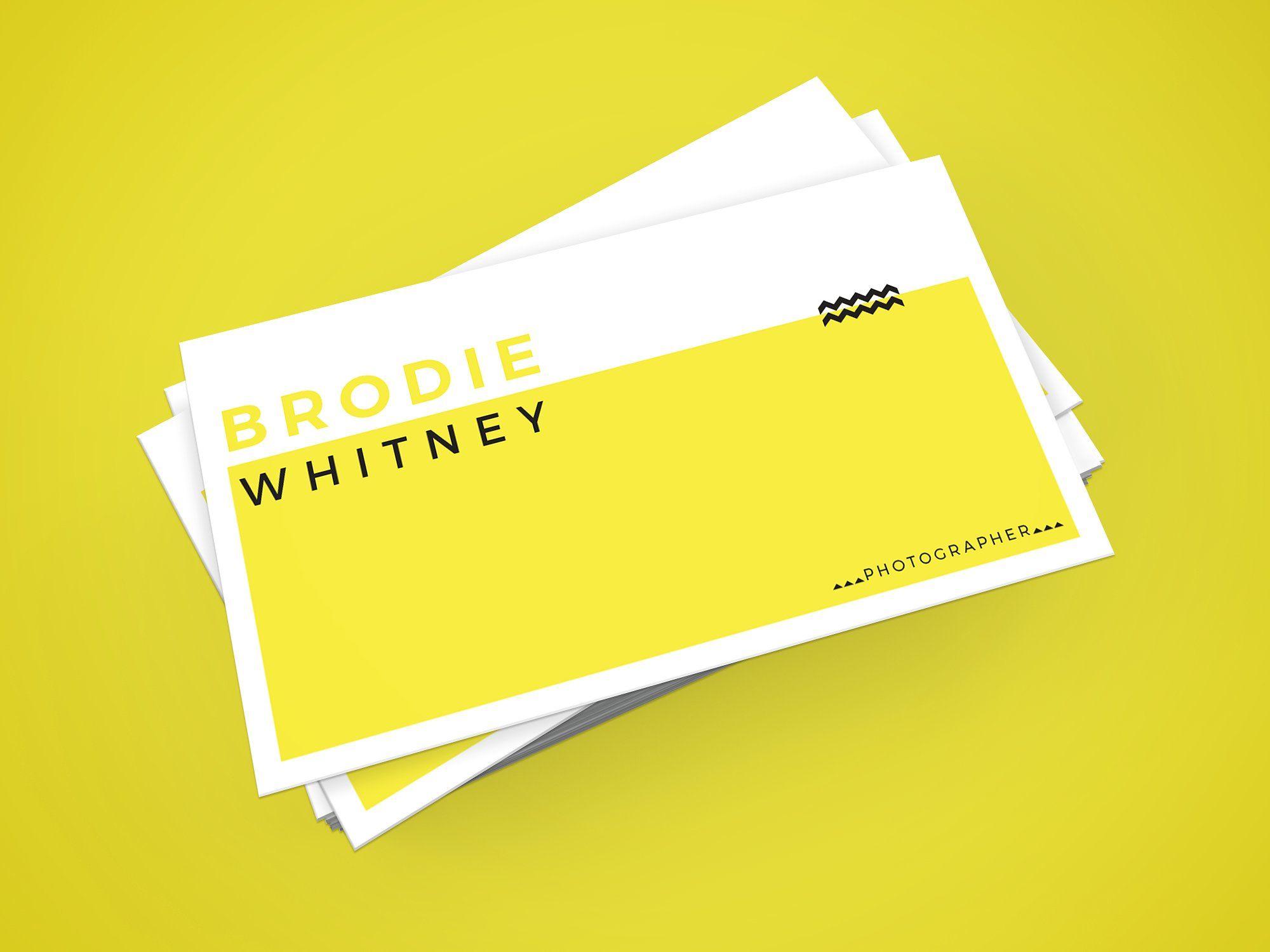 Brodie Whitney Business Card BeautifulSimpleInsertavatar