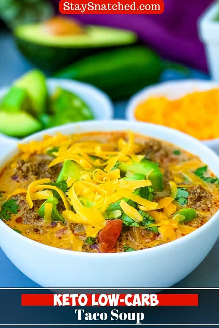 Easy lowcarb keto taco soup is the perfect stovetop