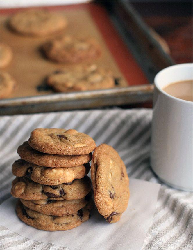 Bittersweet and White Chocolate Chip Cookies • gluten free