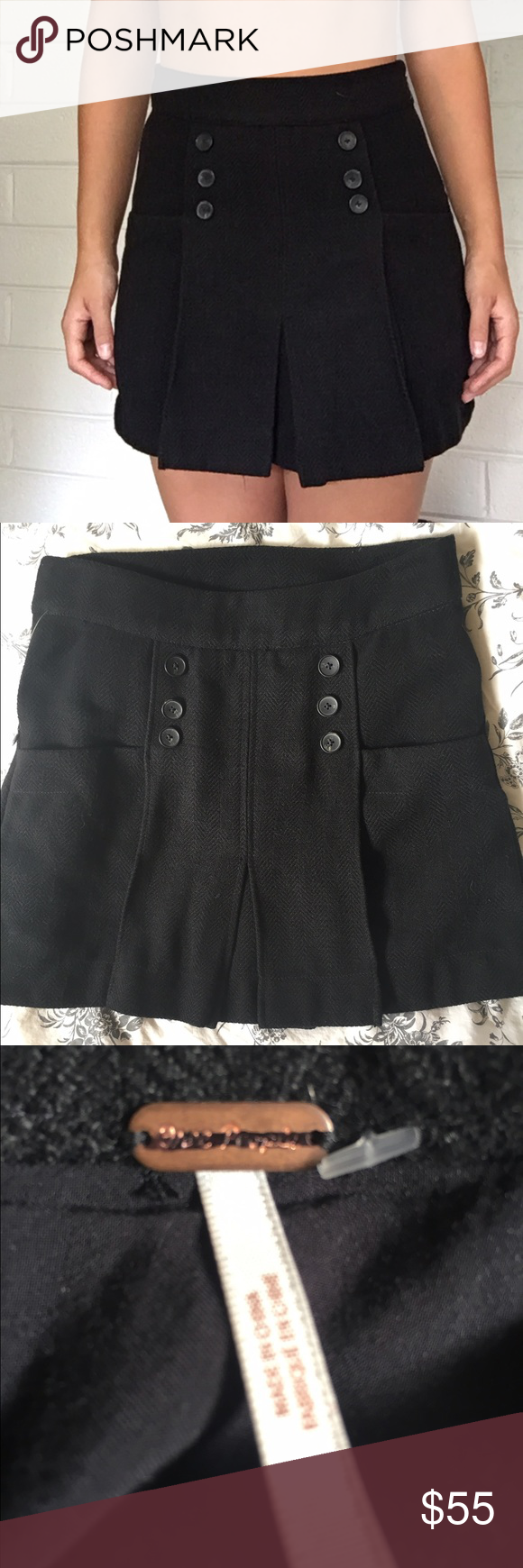 Free people skirt Never been worn  No tags  10% discount when you buy 2 or more items.   Offers welcome  No Trades Free People Skirts Mini