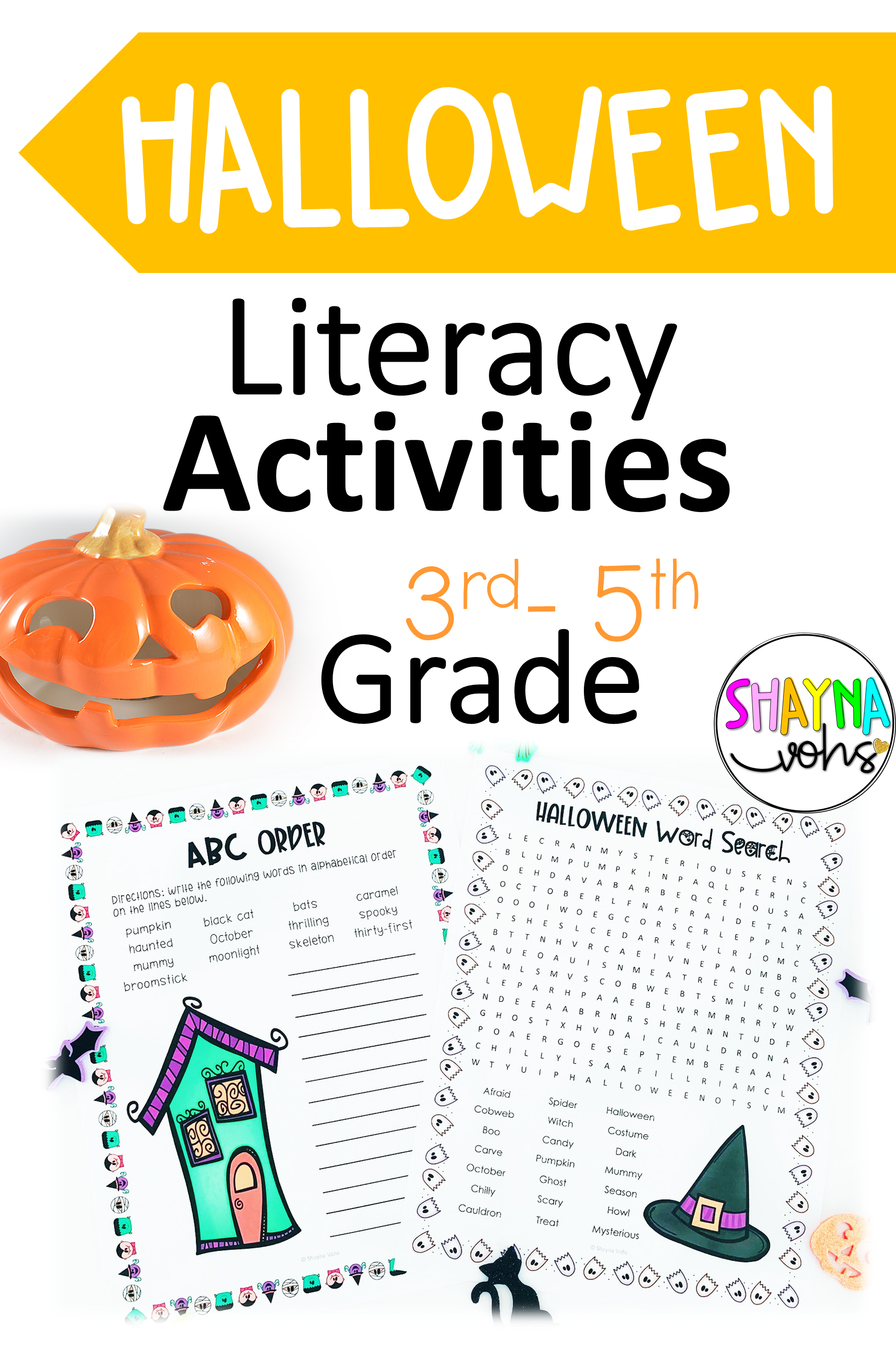 These No Prep Halloween Literacy Activities Are Fun Ela