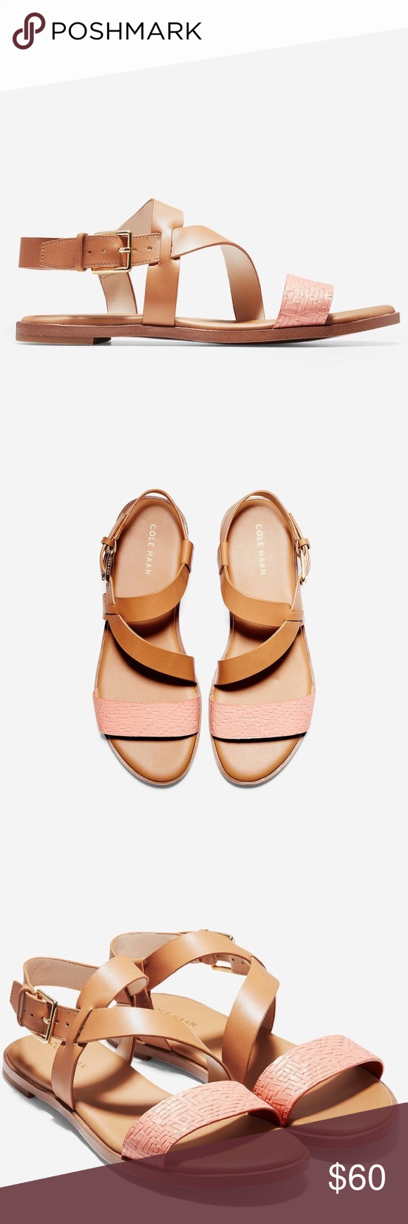c1d15c702e4643 NWT FINDRA Strappy Sandal Cole Haan Super cute neutral colored sandal by  Cole Haan. Footbed