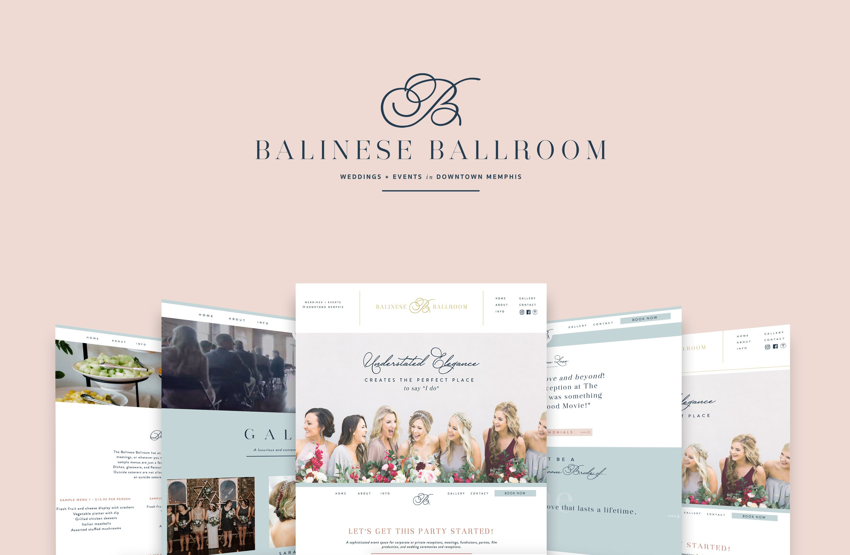 Balinese Ballroom Branding Website Design Elizabeth Mccravy Minimal Website Design Contemporary Wedding Venues Branding Website Design