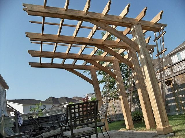 Cantilever gazebo pergola ideas photograph wood projects for 14x14 deck plans