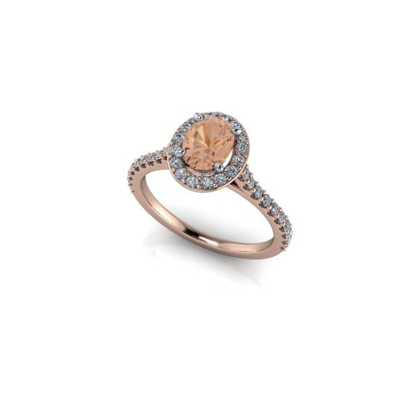 Rose gold with Morganite.