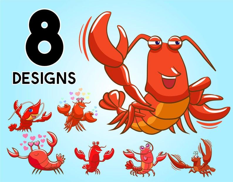 Lobster bundle svglobster vector lobster design lobster