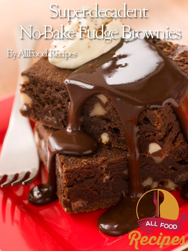 No-Bake Fudge Brownies