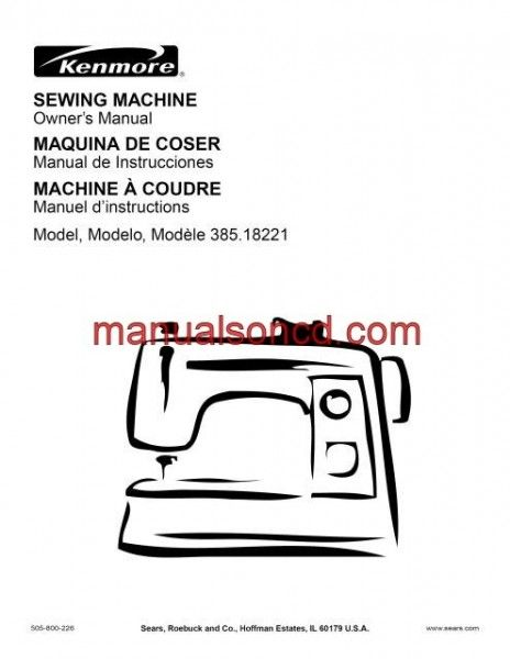 Kenmore 4040 Sewing Machine Instruction Manual Sewing Machine Simple Kenmore Sewing Machine Owner's Manual