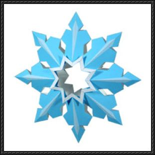 Canon Papercraft - Snowflake Christmas Tree Decoration V2 Free ...