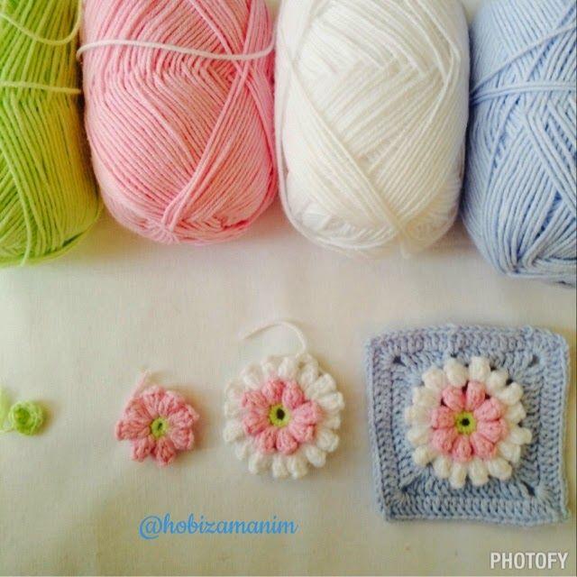 crochet popcorn tutorial ༺✿ƬⱤღ✿༻ | punto | Pinterest ...