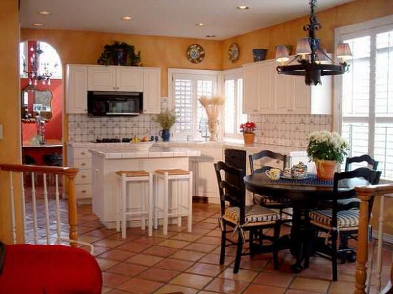 Mediterranean style kitchen greek kitchen mediterranean for Mediterranean style kitchen photos