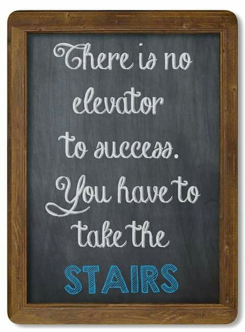 take the stairs!