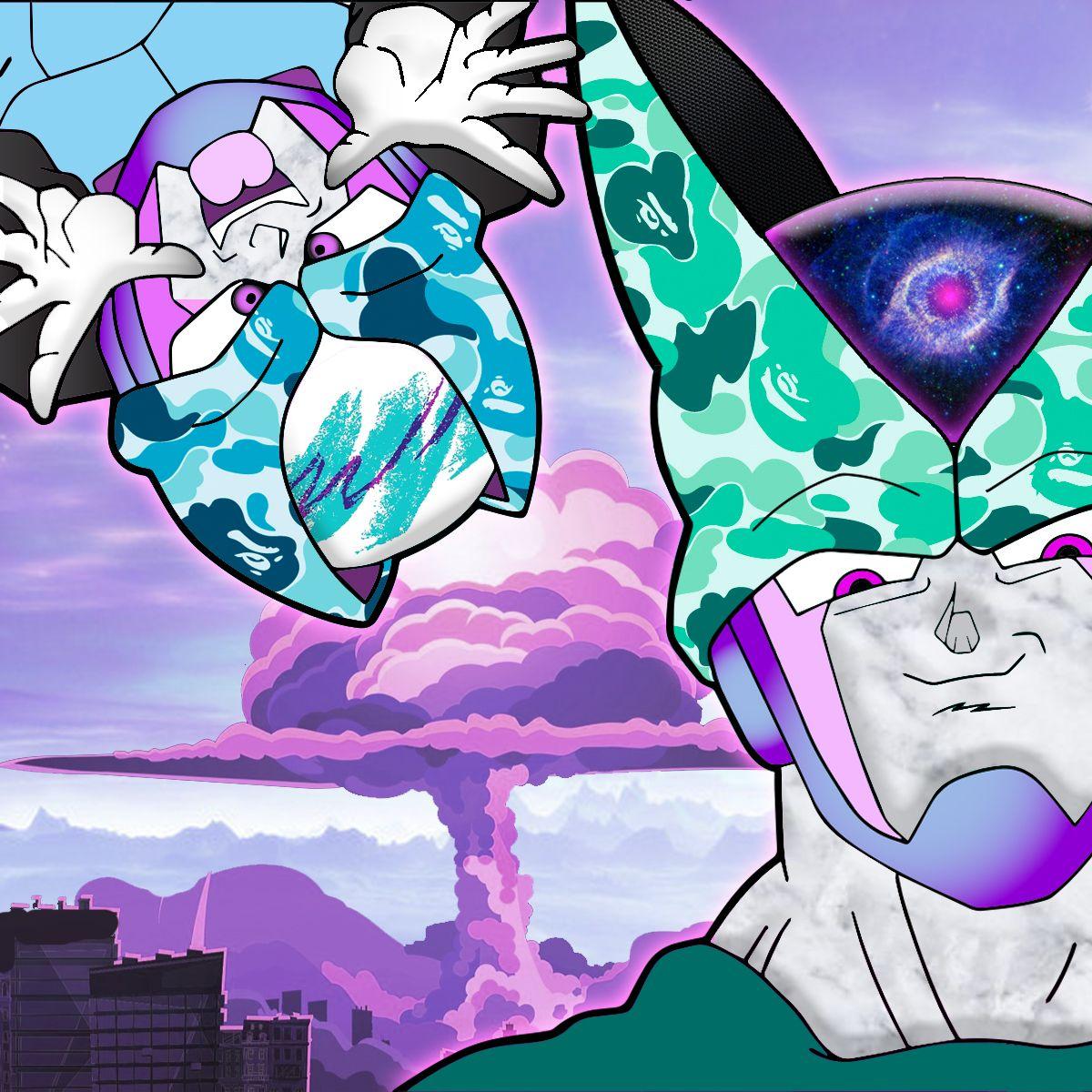 Dragonball Z The Hype Cell Cell Jr Pokemon Vaporwave Lean