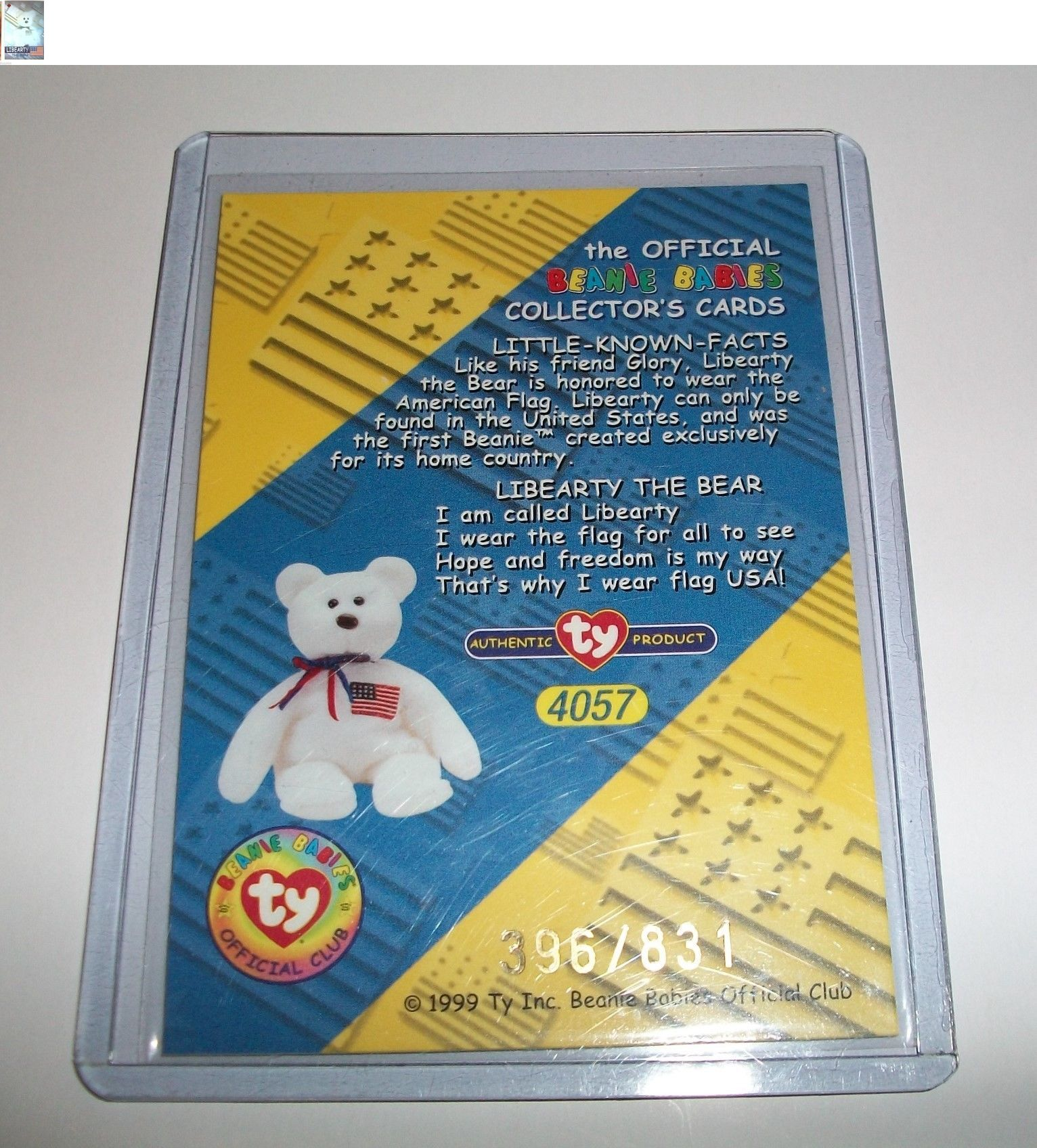 99a375f3988 Trading Cards 1496  Ty S2 Beanie Card Rare Bear Libearty 396 831 Canadian  Very Low Number Made -  BUY IT NOW ONLY   48.29 on  eBay  trading  cards   beanie ...