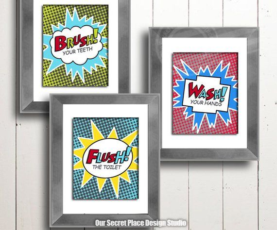 printable kids bathroom wall decor kids bathroom printables kids rh pinterest com