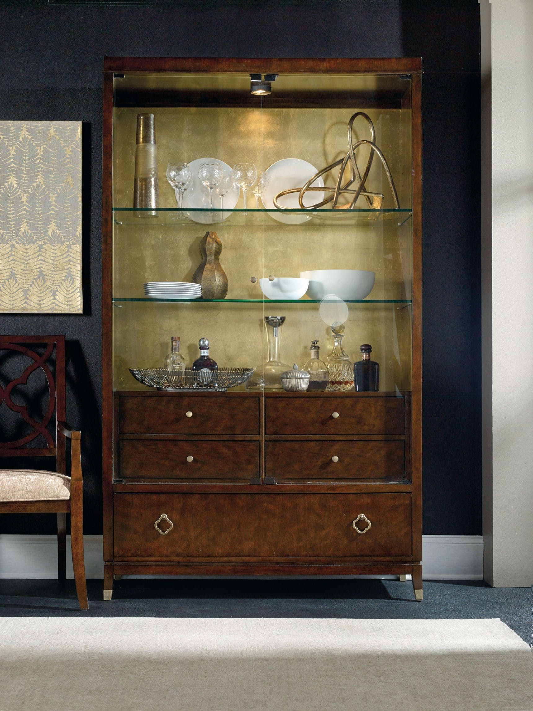Hooker Furniture Skyline Display Cabinet 5336 75908 Dining Room CabinetsCurio