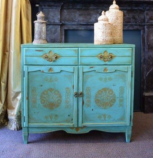 Attirant Ideas For Painting Furniture: Moroccan Inspired Cupboard Chalkpaint/stencil  Makeover