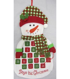 24u0027u0027 Snowman Countdown Wall Piece : Christmas Decor : Holiday U0026 Party : Shop