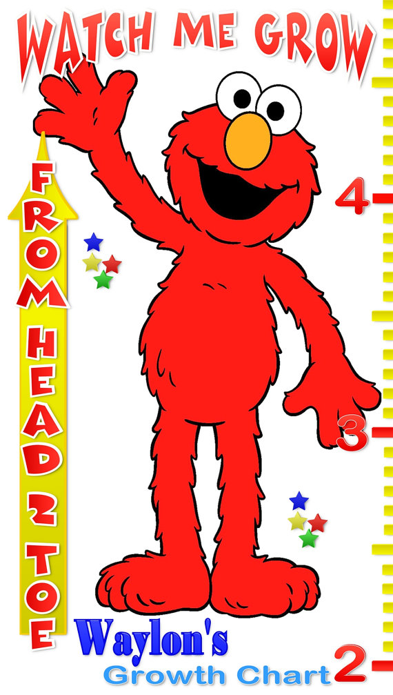 Elmo Personalized Custom Growth Chart Banner Event Banners