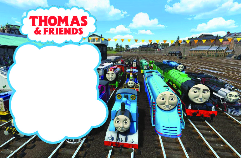 Cool FREE Printable Thomas Friends Birthday Invitation Template