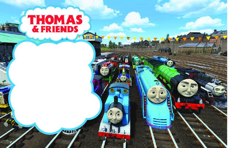 Cool Free Printable Thomas Friends Birthday Invitation Template