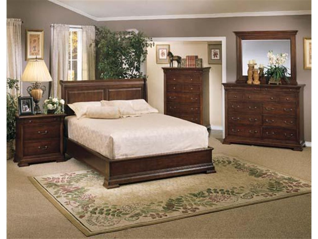 Winners Only Bedroom Classic Walnut Queen Sleigh Bed BWK1002Q   Stacy  Furniture   Grapevine, Allen