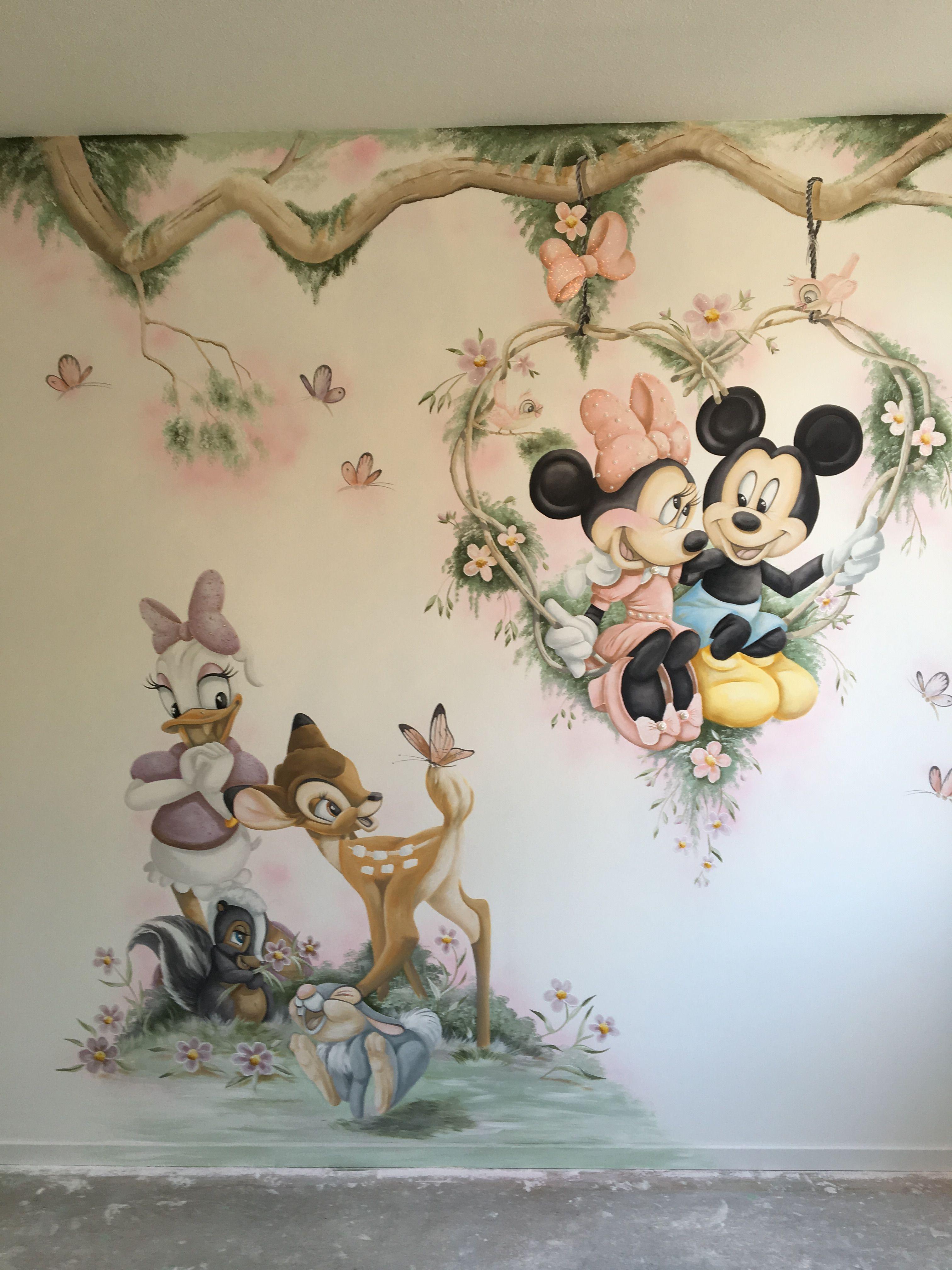 Kinder Wandtattoo Disney Mickey Mouse und Donald Duck