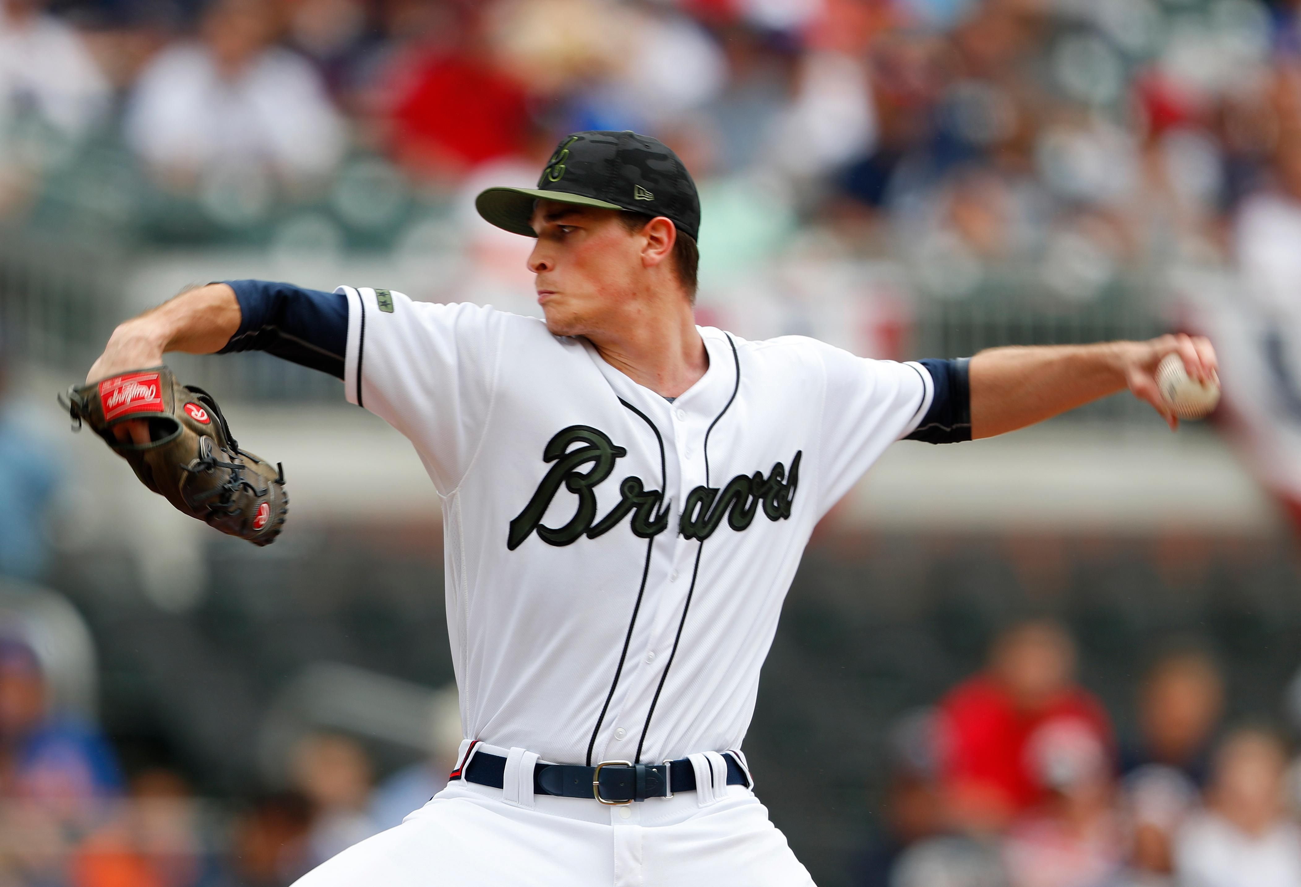 Atlanta Braves Starting Pitcher Max Fried Works In The First Inning Of A Baseball Game Against The New York Mets Monday Atlanta Braves Braves Baseball Braves