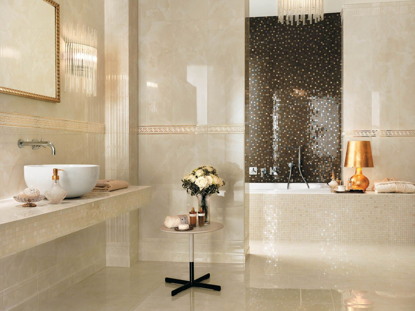 Deckenleisten Badezimmer Champagne Onyx Bronze Luxury House Wall Tiles Bathroom