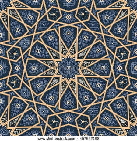 islamic seamless oriental vintage pattern abstract vector seamless ornament vector muslim background east
