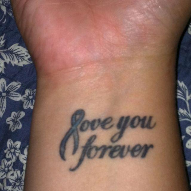 Colon cancer awareness tattoo ...for my mom <3