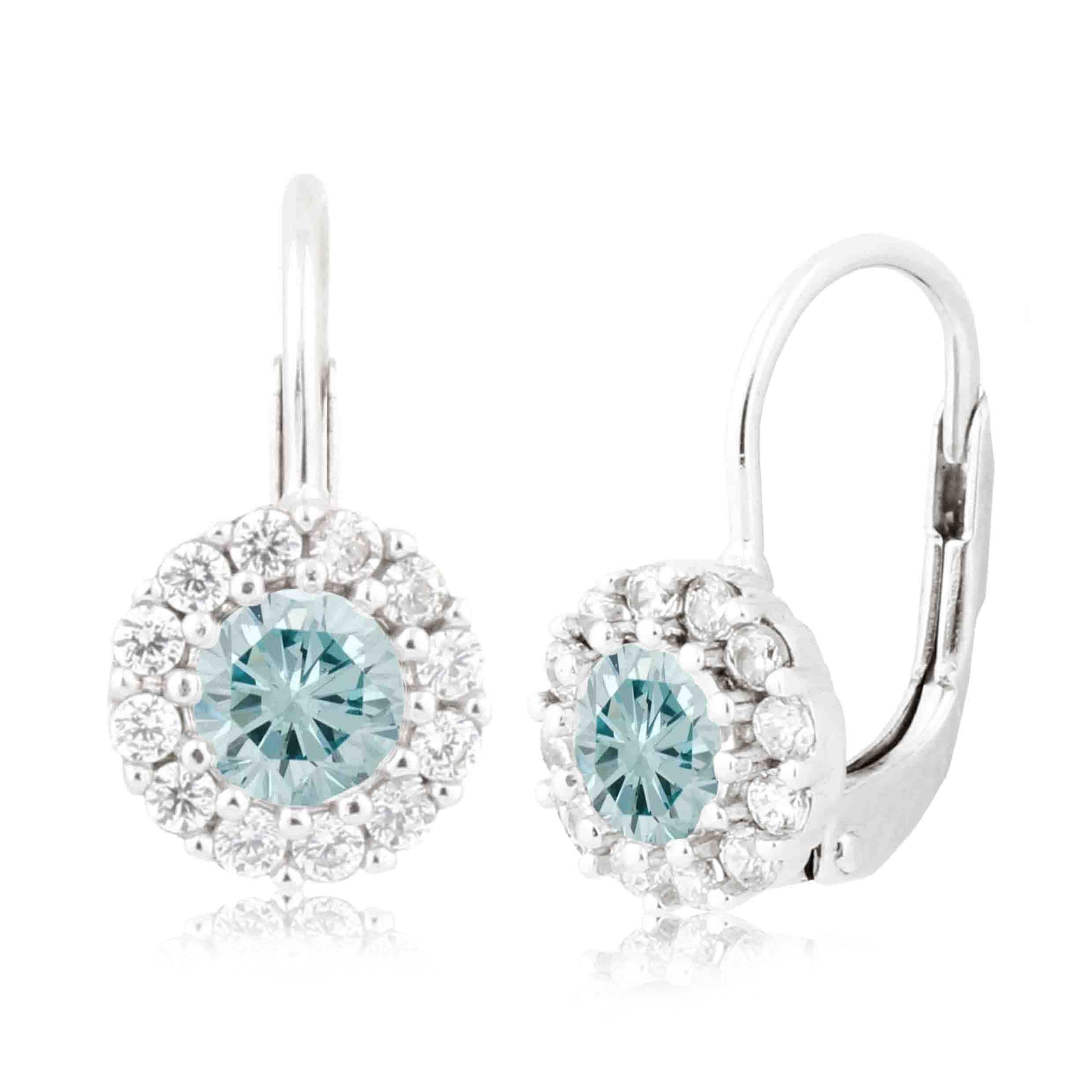 March birthstone earrings in sterling silver with cz products