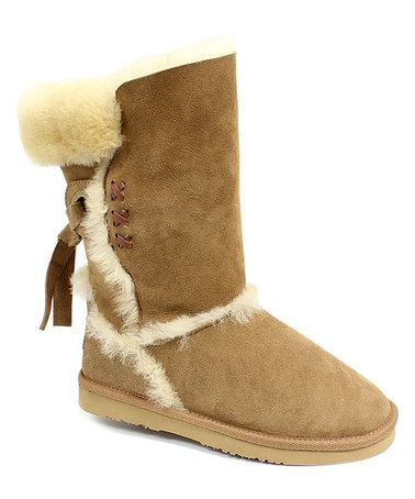 Look what I found on #zulily! Chestnut Big Bear II Sheepskin Boot #zulilyfinds