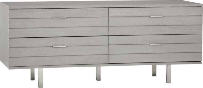 Concrete Low Dresser In Bedroom Furniture Cb2 Considering Using