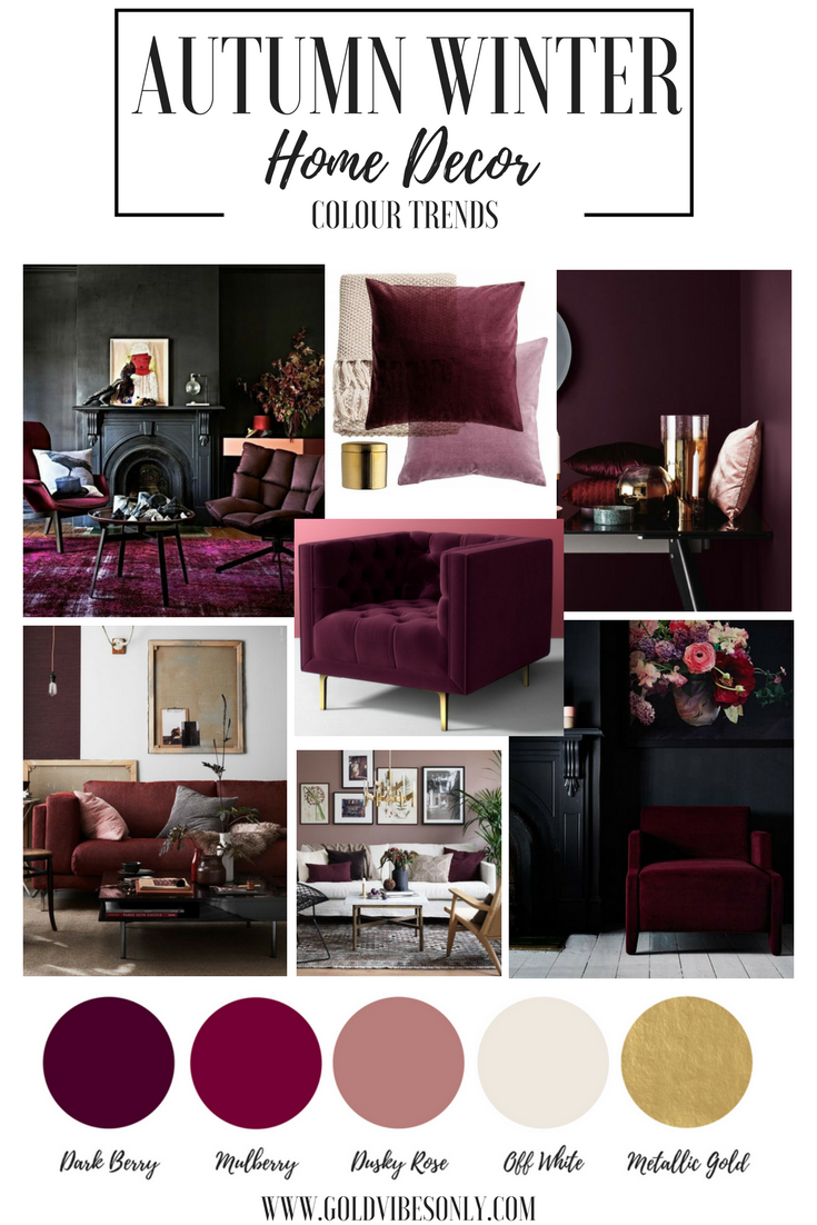 plum accessories for living room autumn winter colour color trends interior home decor 22803