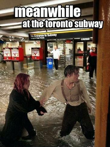 Meanwhile In Toronto Floods Humor Internet Funny Flood Meme