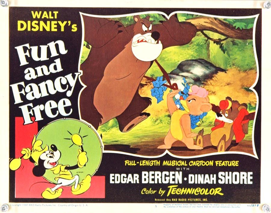 Fun And Fancy Free 1947 Disney Movie Posters Disney Fun